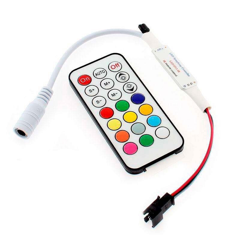 Controlador SP103 IR para tira LED IC Digital + mando